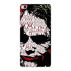 Stylish Mad Typo Multicolor Back Case Cover for Huawei P8
