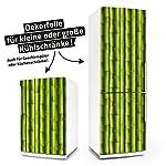 Kühlschrank- & Geschirrspüler-Aufkleber --- Bambus --- Dekor Folie Klebefolie Front Sticker