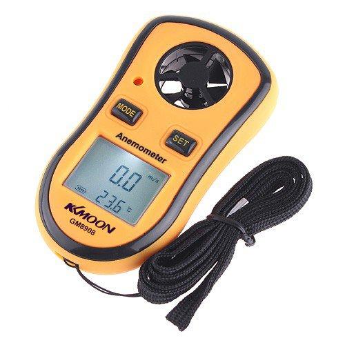 LCD digitale Windgeschwindigkeit Temperatur Messgeraet Anemometer