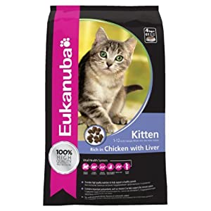 Eukanuba Kitten Dry Cat Food Chicken Liver, 4 Kg