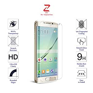 Samsung S7 Glass Screen Protector Tempered Glass-Pack of 1 , IZU® Pro Tempered Glass Ballistics Glass, 99% Touch-screen Accurate, Anti-Scratch, Anti-Fingerprint, Round Edge [0.3mm] Ultra-clear - Retail Packaging