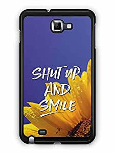 YuBingo Shut Up and Smile Designer Mobile Case Back Cover for Samsung Galaxy Note 1