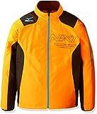 (ミズノ)MIZUNO 陸上ウエア N-XT ウインドブレーカーシャツ [ユニセックス] U2ME6510 54 オレンジクラウンフィッシュ×ブラック M
