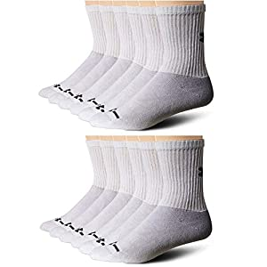 Under Armour Men's Charged Cotton Crew Socks - 12 Pairs (2-pk (12 pair) Large, White)