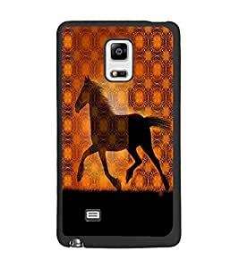 PrintDhaba Horse D-2910 Back Case Cover for SAMSUNG GALAXY NOTE 4 (Multi-Coloured)