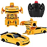 Kiditos Transformers Bumblebee 4 CH Remote Control RC Wall Climbing Racing Car