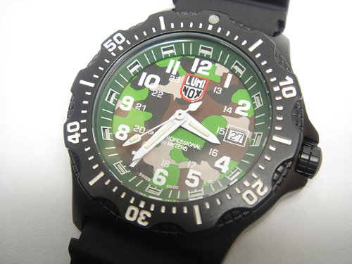 Luminox LU8418 Navy Seals Black OPS Camo Dial PU Strap Men's Watch