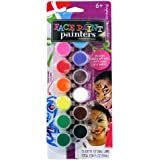 ELMERS Face Paint Set with Brush, 12 Assorted Colors (E111)