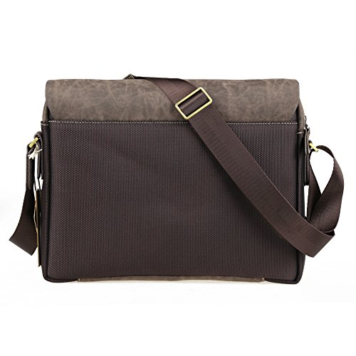 Mens Canvas Pu Shoulder Bag Handbags Briefcase for the Office Messenger Bag/Large Enough to Hold Books / iPad
