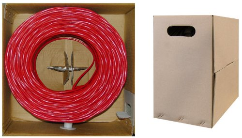C&E 1000- feet 23AWG CAT6, 550-MHz Solid Bulk Cable, 4-Pair, PVC,Red