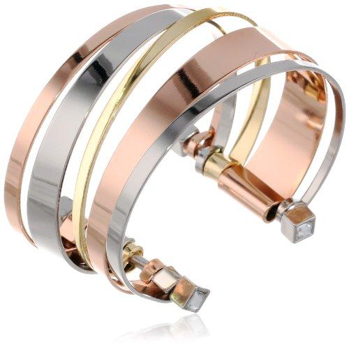 Bracelets BCBGeneration Tri-Tone Cuff Bracelet, 6