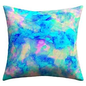 Amazon.com : DENY Designs Amy Sia Electrify Ice Blue Outdoor Throw Pillow, 18 by 18-Inch : Patio ...
