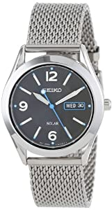 Seiko Men's SNE233 Solar Stainless Steel Mesh Watch