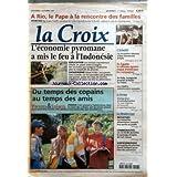 CROIX (LA) [No 34832] du 03/10/1997 - A RIO LE PAPE A LA RENCONTRE DES FAMILLES - L'ECONOMIE PYROMANE A MIS LE...