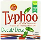 Typhoo 80 Decaf Tea Teabags (Pack of 6, Total 480 Teabags)