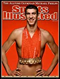 (18x24) Michael Phelps Sports Illustrated Cover with 8 Gold Medals Sports Poster Print