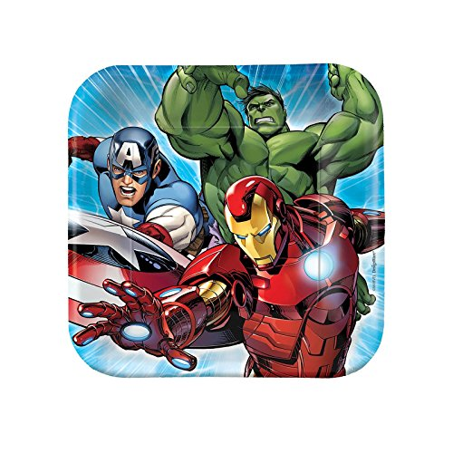 Avengers Assemble NEW Birthday Party Dessert Cake Plates (8 per pkg) - 1