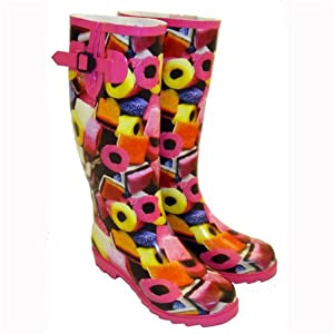Ladies LIQUORICE ALLSORTS Funky Festival Wellies