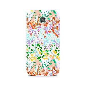Ebby Floral Colored Abstract Premium Printed Case For Moto E