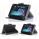 "VTSN Tablet Hard Case - Black Faux Leather Carrying Case (For 7"" Tablet, Black)"