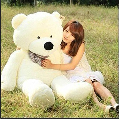 "39'' Soft 100% Pp Cotton Toy Giant 100cm BIG Cute White Plush Teddy Bear Huge by Lanna Siam - 517JIio4 2BvL - 39"" Soft 100% Pp Cotton Toy Giant 100cm BIG Cute White Plush Teddy Bear Huge by Lanna Siam"