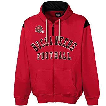 NFL Tampa Bay Buccaneers TKO Full Zip Hoodie Sweatshirt - Red by Football Fanatics