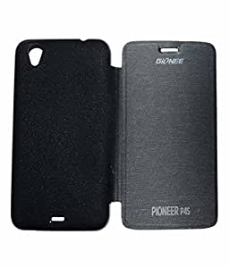 Aara Rich Diary Smart Case Flip Cover Pouch Battery Back For Gionee Pioneer P4s - Black