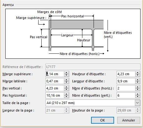 6000 étiquettes 99.1 x 42.3 mm soit 500 planches de 12 étiquettes adresse pour laser, jet d'encre et copieur compatible l7177 FACTURE DE NOTRE IMPRIMMERIE AVEC TVA DEDUCTIBLE