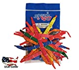 "100pcs 30"" ASSORTED Color Flying Whistle Long Rocket Balloons KIDS FUN **USA SELLER**(Jarty Party Brand)"