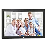 Celendi 15-Inch 1280x800 High Resolution Digital Photo Frame With Auto On Off Timer - MP3 and Video Player - Black