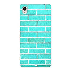 Gorgeous Brick Cyan Back Case Cover for Sony Xperia M4