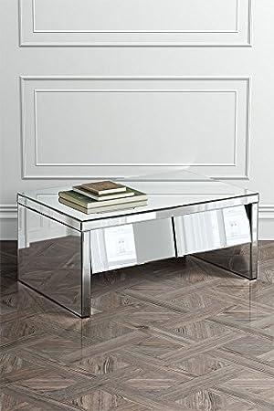 MY-Furniture Mesa de centro con espejo - gama Monte Carlo