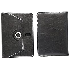 Brain Freezer 7Inch Rotating Flip Flap Case Cover Pouch Carry For Intex Ibuddy 7.2 Case Black