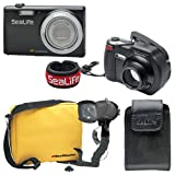 SeaLife DC1400 Pro 14MP HD Underwater Digital Camera with Flash & Flex Arm Bracket Waterproof up to 200 ft. (60m)