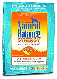Dick Van Patten's Natural Balance Synergy Ultra Premium Formula Dry Dog Food, 26-Pound Bag