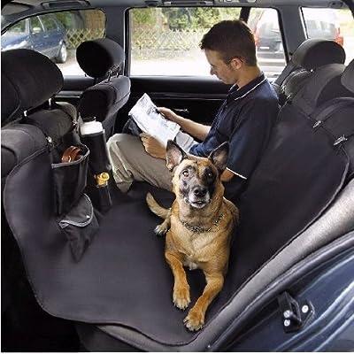 【ドイツKARLIE】ドリンクボトル付きドライブ用後部座席シートカバー アオトショーンデッケスターカーシート CAR STAR