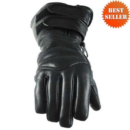 Double Strap Naked Leather Gloves