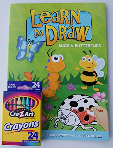 Learn to Draw Coloring Kit - Bugs & Butterflies