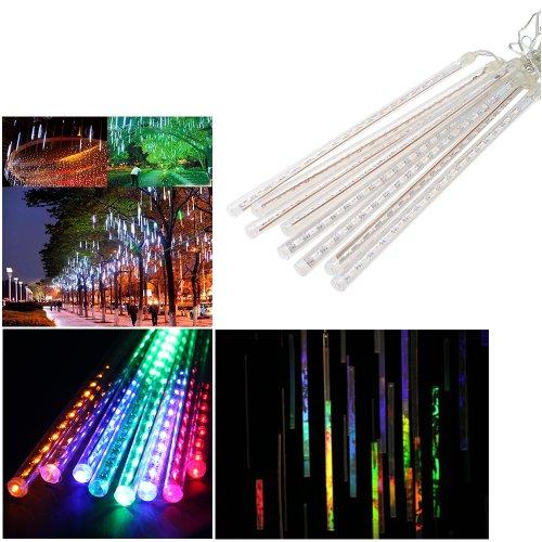 AGPtek® 8 Tube RGB Multicolor 50cm 240 LED Meteor