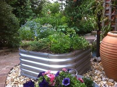 Garden Raised bed metal galvanised steel planter no base