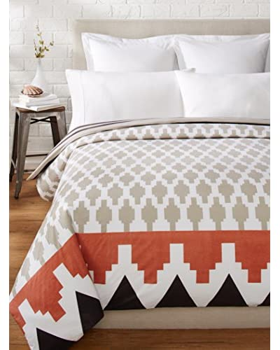 Allem Studio Granada Duvet, Grey/Salmon, Queen