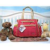 SoHo Collection, NY Gramercy 3 pieces Diaper Bag set *Limited time offer !* (Maple Leaf)