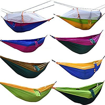 Yosoo Travel Camping Outdoor Nylon Fabric Hammock Parachute Bed Double Hammock
