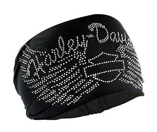 harley-davidson-womens-headband-scrunchie-studded-bar-shield-wings-he07430