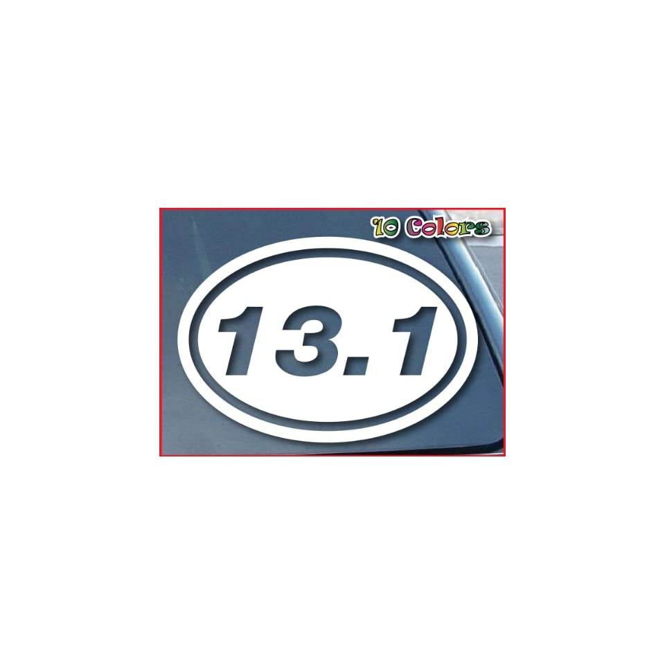 13 1 marathon o oval car window vinyl decal sticker 8 for 13 1 window sticker