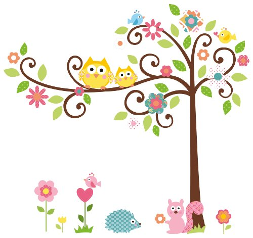 RoomMates RMK1439SLM Scroll Tree Peel &#038; Stick Wall Decal MegaPack