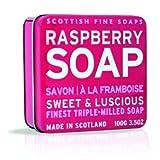 The Scottish Fine Soaps Company Soap Tin Collection - Raspberry (100)g