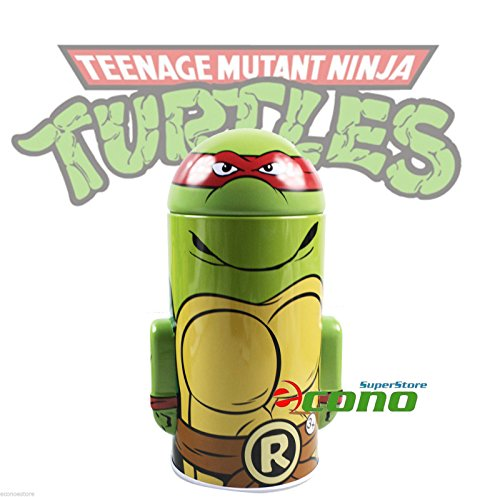 Collectable Teenage Mutant Ninja Turtle Tin Box Coin Piggy Bank Raphael - 1