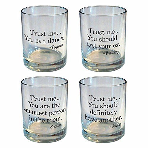 Trust Me - Funny Rocks Glass Set (Types Of Trusts compare prices)