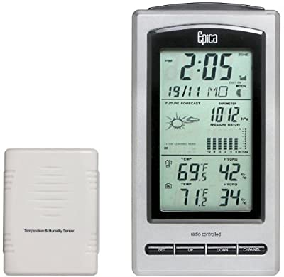 Epica EP8144 Wireless Advanced Weather Station with Temperature, Barometer, Humidity and Moon Phase from E. P.
